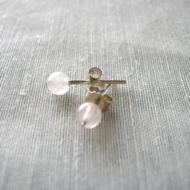 boucles d'oreilles en quartz rose