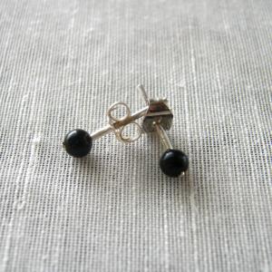 boucles d'oreilles onyx